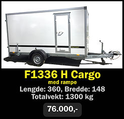 Tilhenger. Norgeshengern F1336 Cargo med rampe