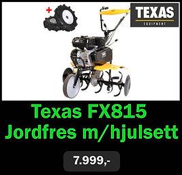 Texas FX815 Jordfres m/hjulsett