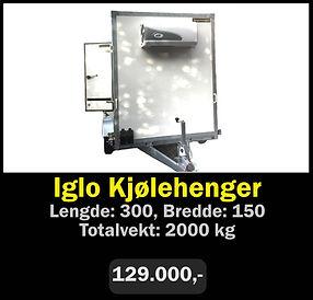 Tilhenger. Norgeshengern Iglo Kjølehenger