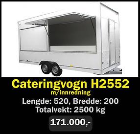 Tilhenger. Norgeshengern H2552 Cateringvogn