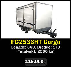 Tilhenger. Norgeshengern FC2536 Cargo