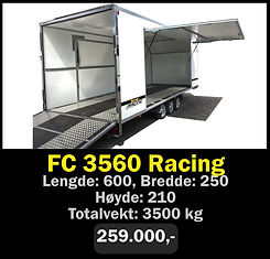 Tilhenger. Norgeshengern FC 3560 Racing