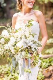 Big Beautiful Garden White and Green Bouquet