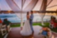 bride wedding day kauai Fabric Draping hawaii beach twinkle lights cafe
