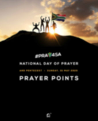 PRAY4SA | SOUTH AFRICA NATIONAL DAY OF PRAYER AND PENTECOST SUNDAY 31 MAY 2020
