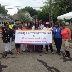 Kicking off this parade honoring the late Reverend Dr. Michael C
