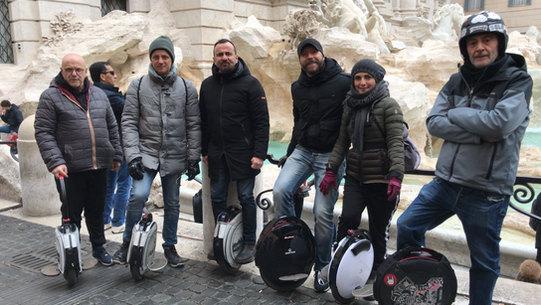 Gruppo a fontana di Trevi