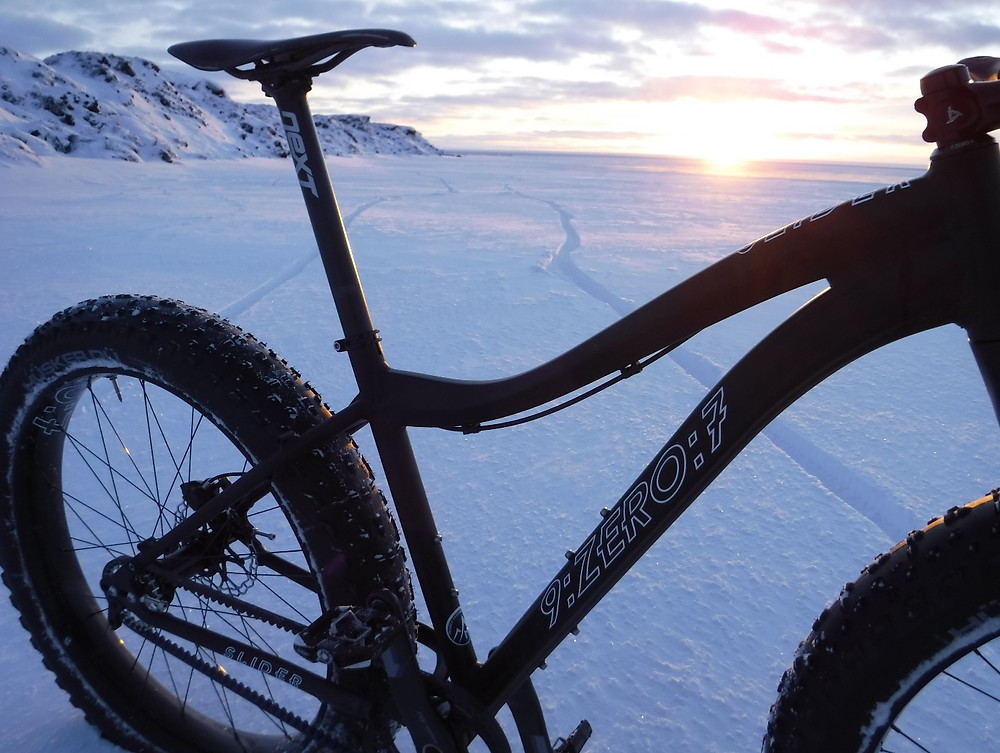 The 9:ZERO:7 Slider with Gates Belt Drive was the perfect ride for the frozen beaches and tundra.