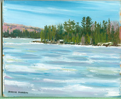 Bd#28 Hayhurst point in winter-SOLD