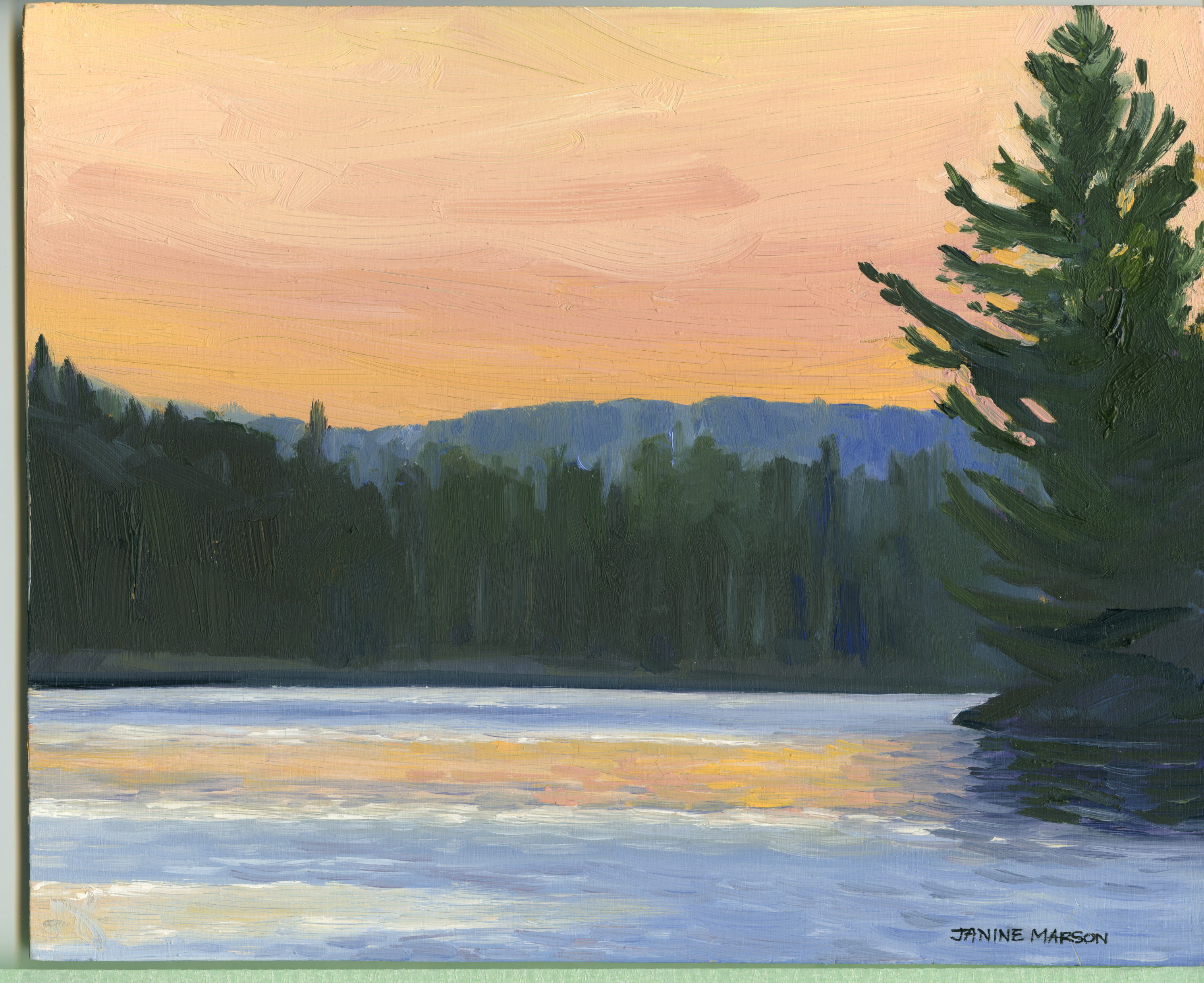 Board#16 Sunset Ragged Lake-SOLD