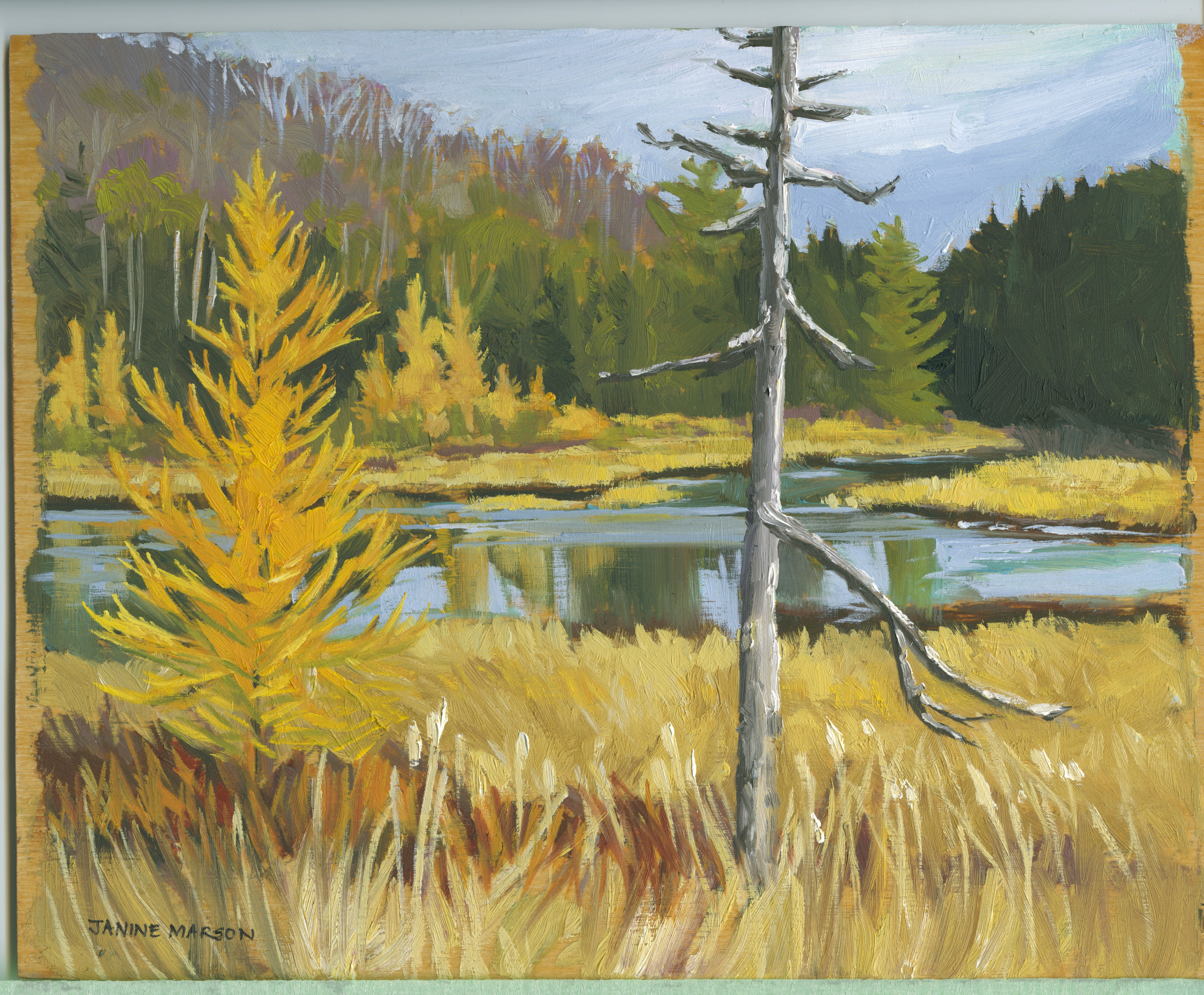 Board#83 Fall in the Marsh-SOLD