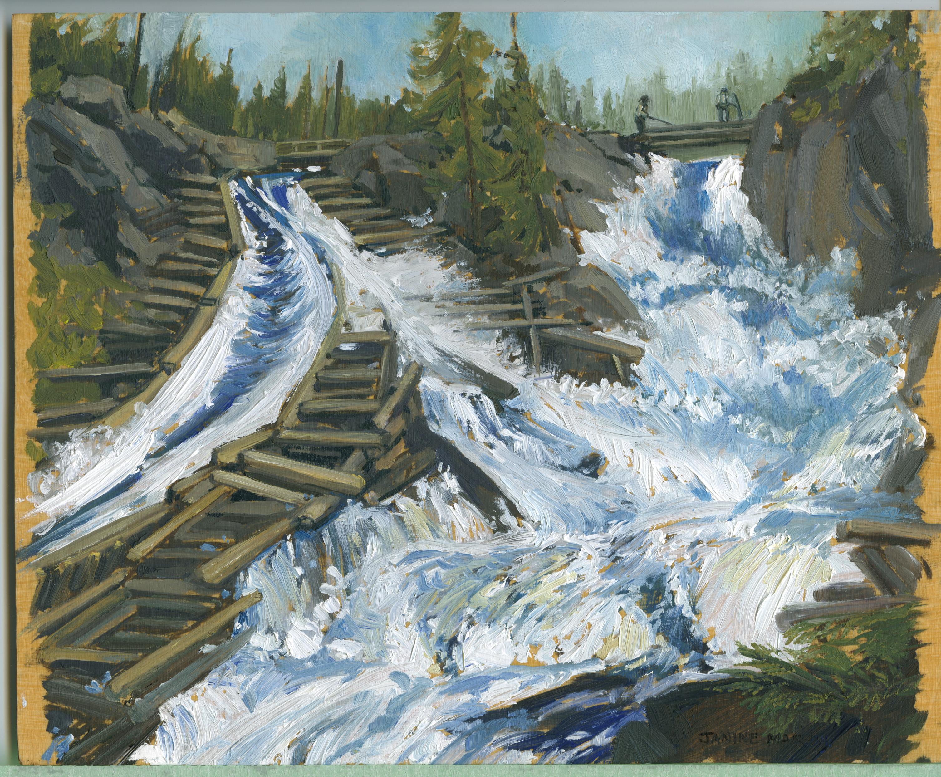 Bd#93 Ragged Falls log chute-SOLD