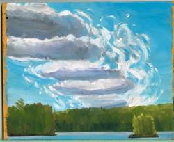 Board# 64 Wind torn clouds-for sale