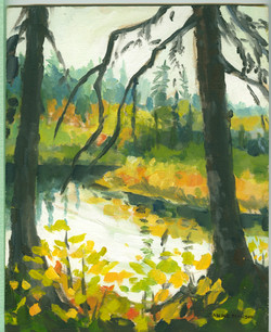 Bd#20Oxtongue River in the rain-SOLD