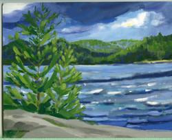 Board#17 Windy day Achray-SOLD