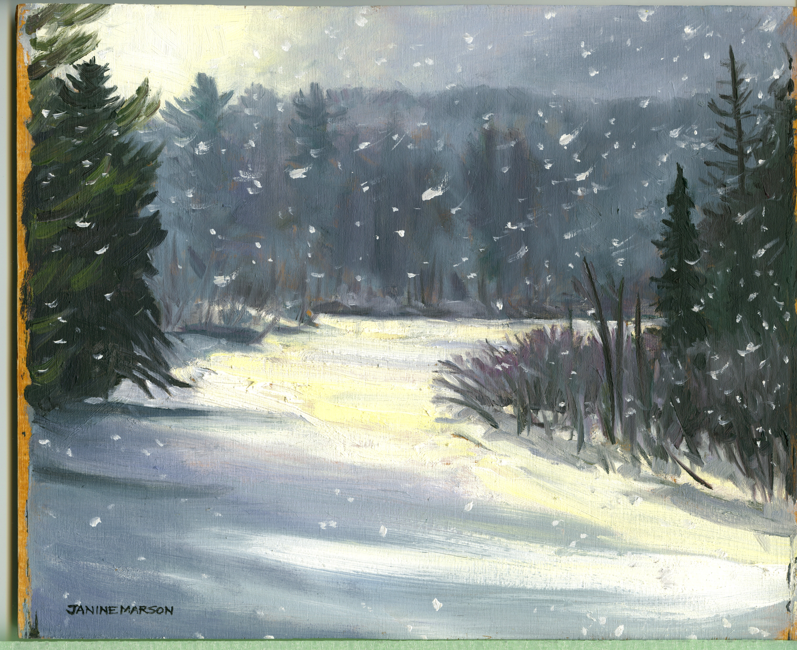 Bd#26 Snowy morning-SOLD