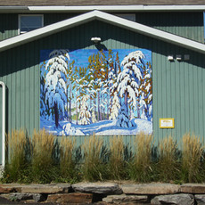 Mural of Winter in the Northern Woods do