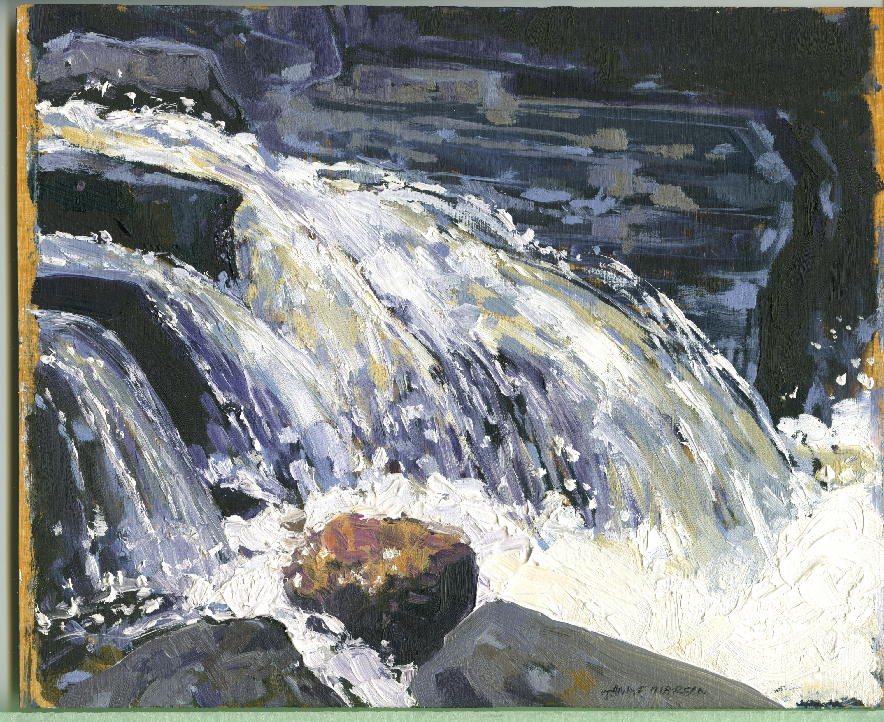 Board#34Woodland Waterfall-SOLD