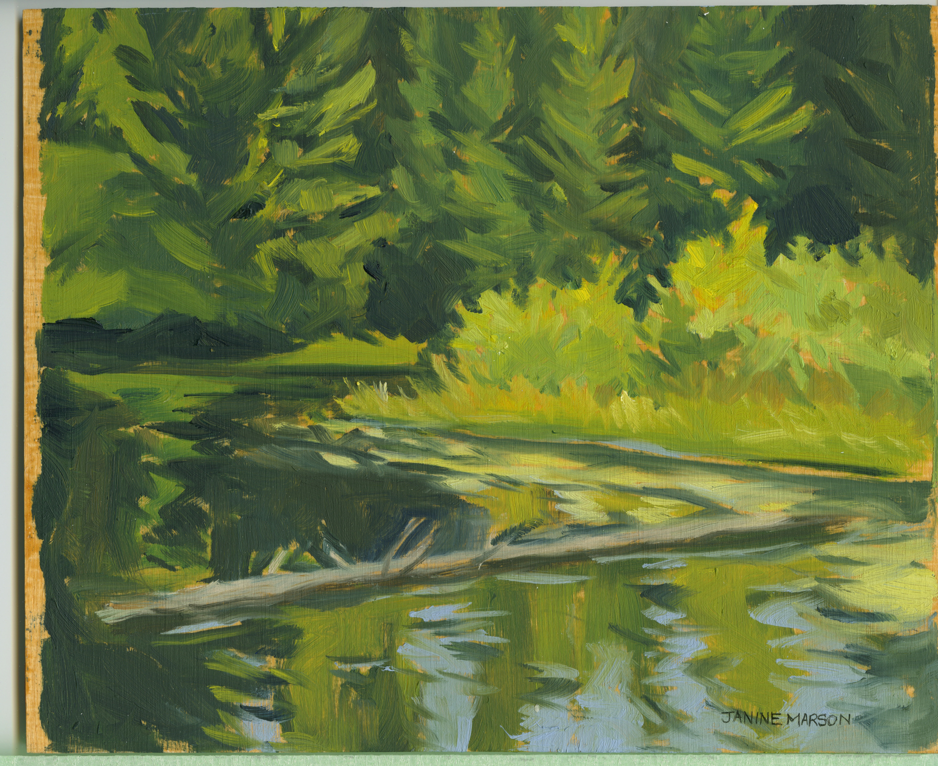 Board#50 Bend in the river-SOLD