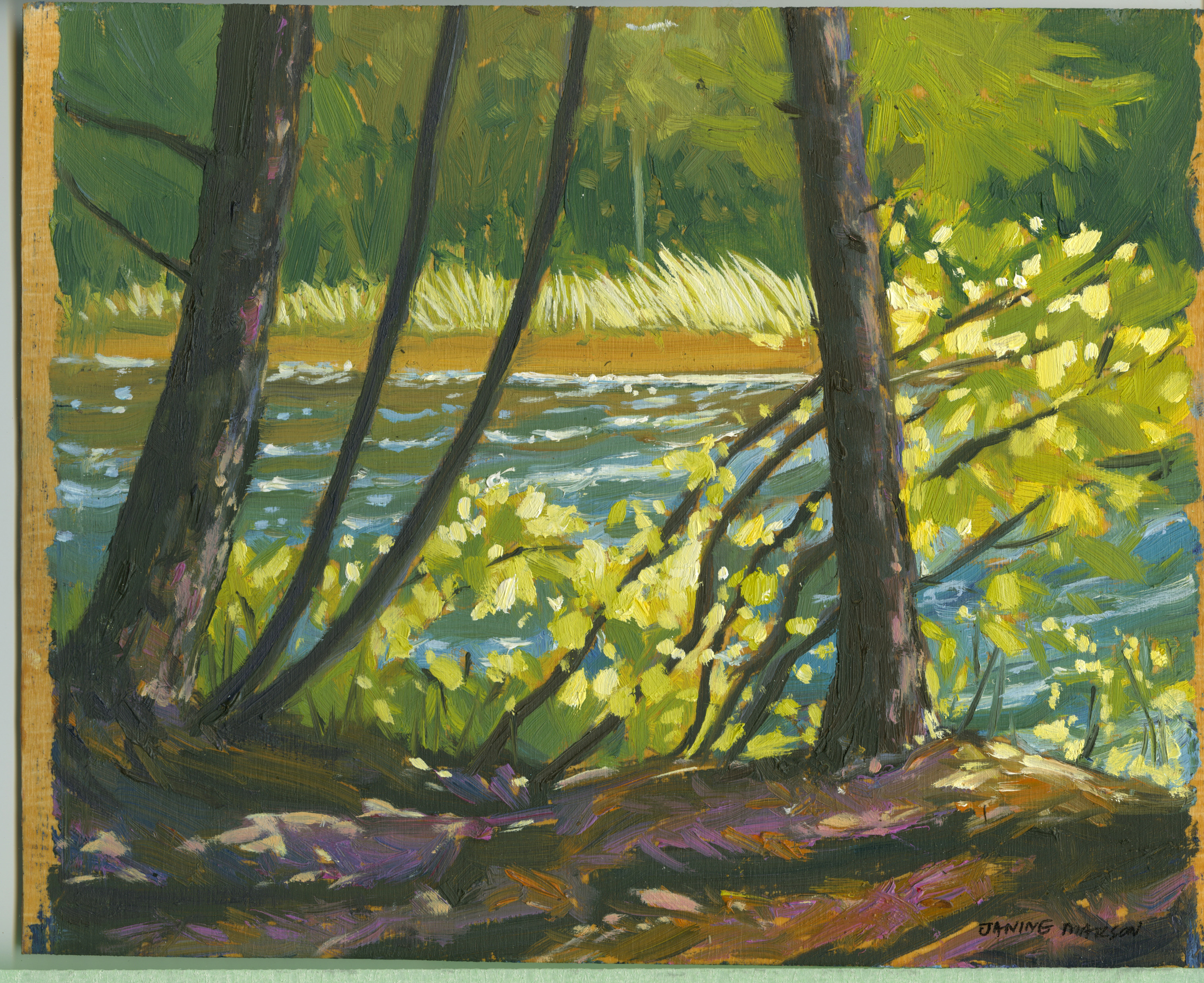 Bd#56 Morning sunlit cove-SOLD