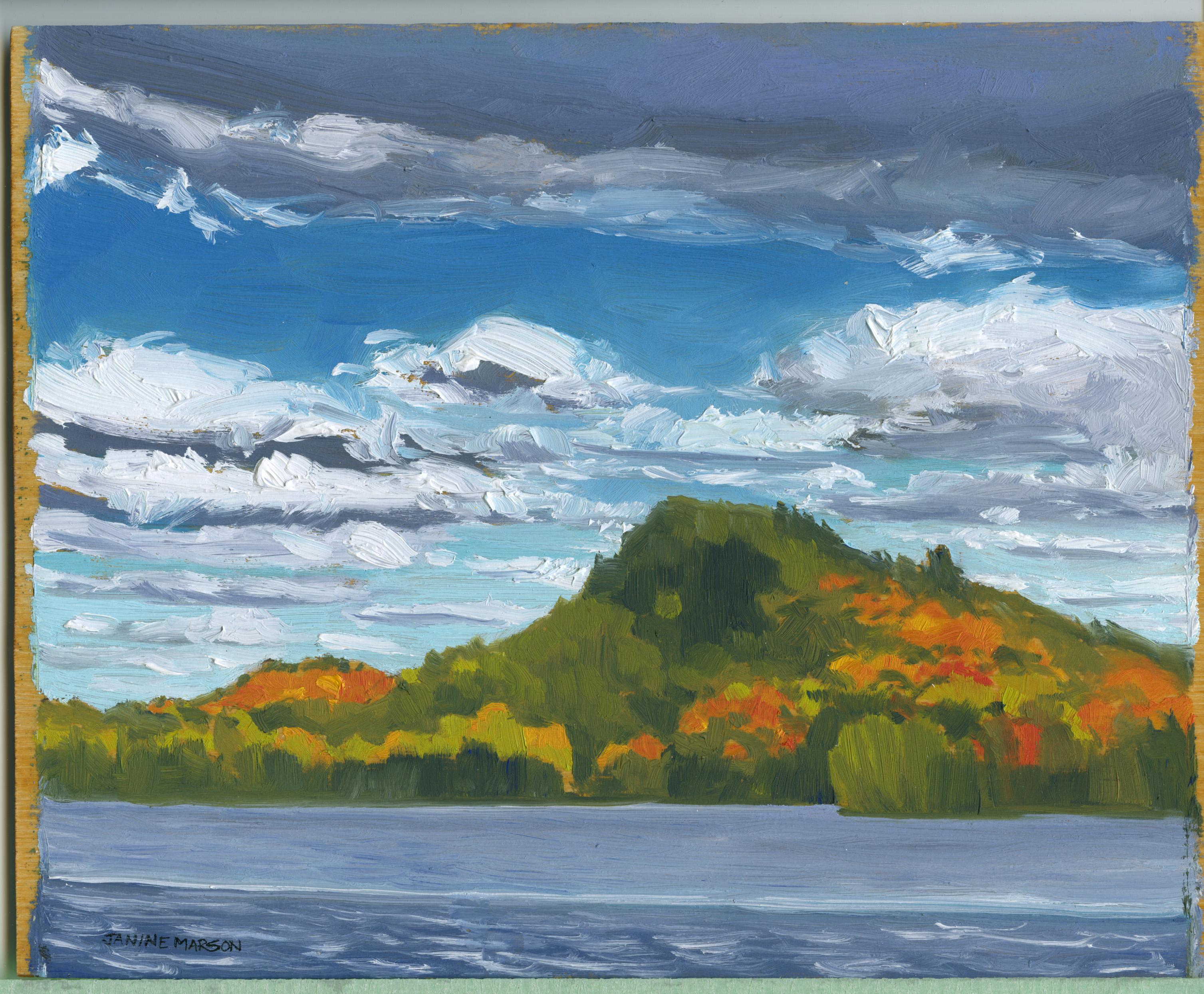 Board#78Fall colours Fairy Lake-SOLD