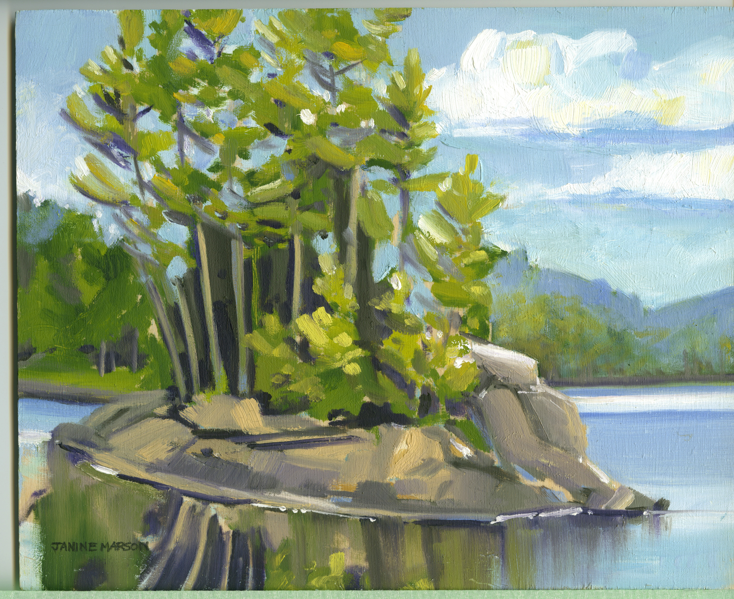 Ragged Lake, Afternoon Sun-SOLD