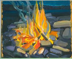 Board#59 Campfire-SOLD