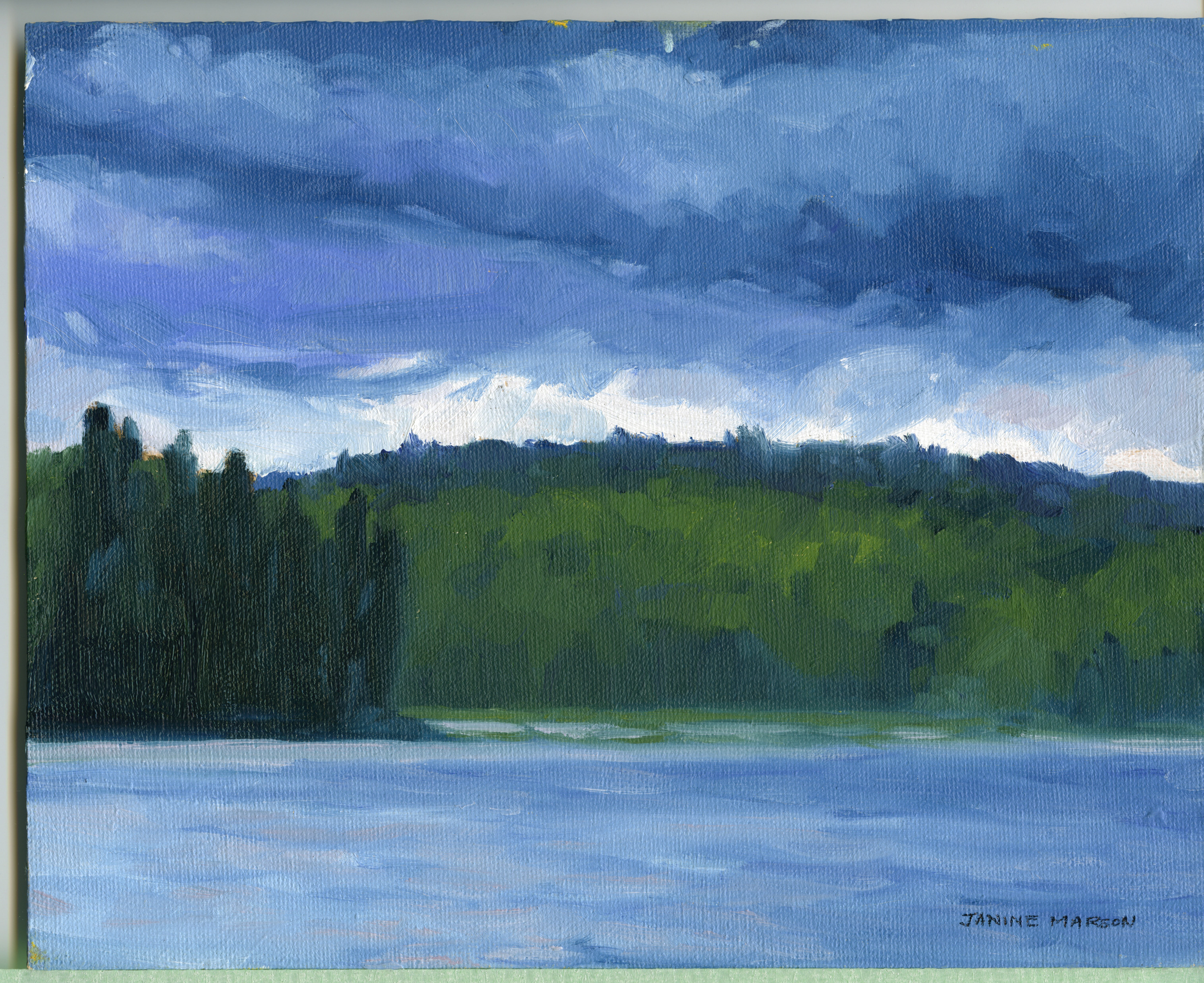 Bd#12 Stormy skies above Mowat-SOLD