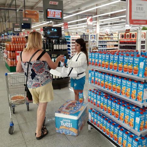 Degustación Tutti en supermercados
