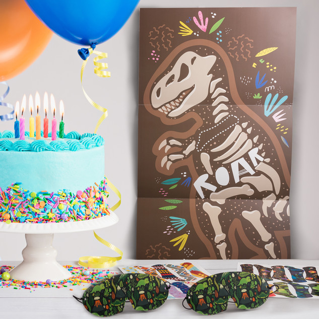 Pin the Dino Party Game