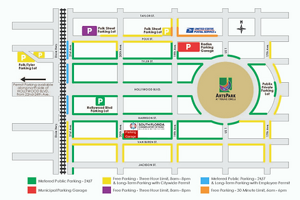 Parking Map for downtown Hollywood Florida