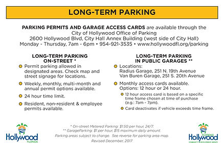 parking terms for downtown Hollywood Florida