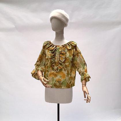 Autumn leaves romantic blouse