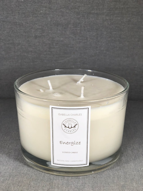 Energize •  Deluxe Natural Wax Candle