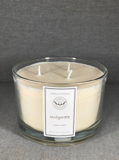 Invigorate • Deluxe Natural Wax Candle