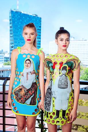 Eufrosina Lasercut Dress & ion&Ana Lasercut Dress