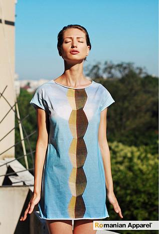 Blue Endless Column Dress