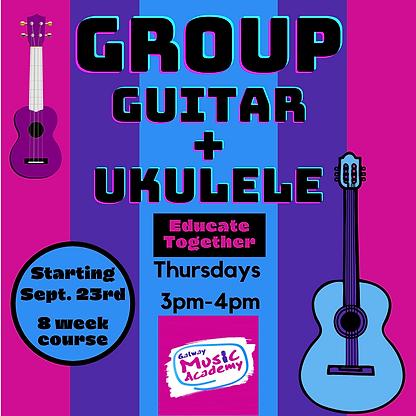 Group Guitar and Ukulele Class