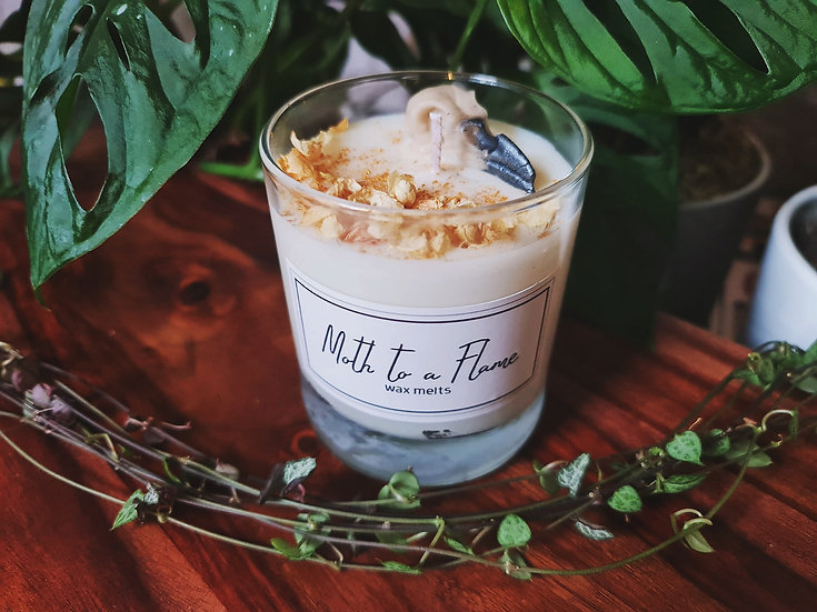 Luxury Crow Skull Candle | Moth to a Flame