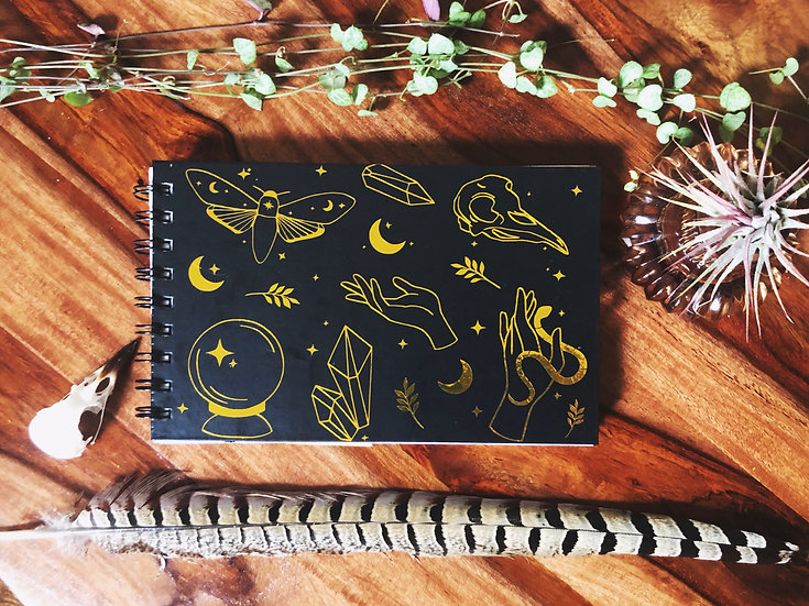 Gold Patterned Notebook | A5 lined