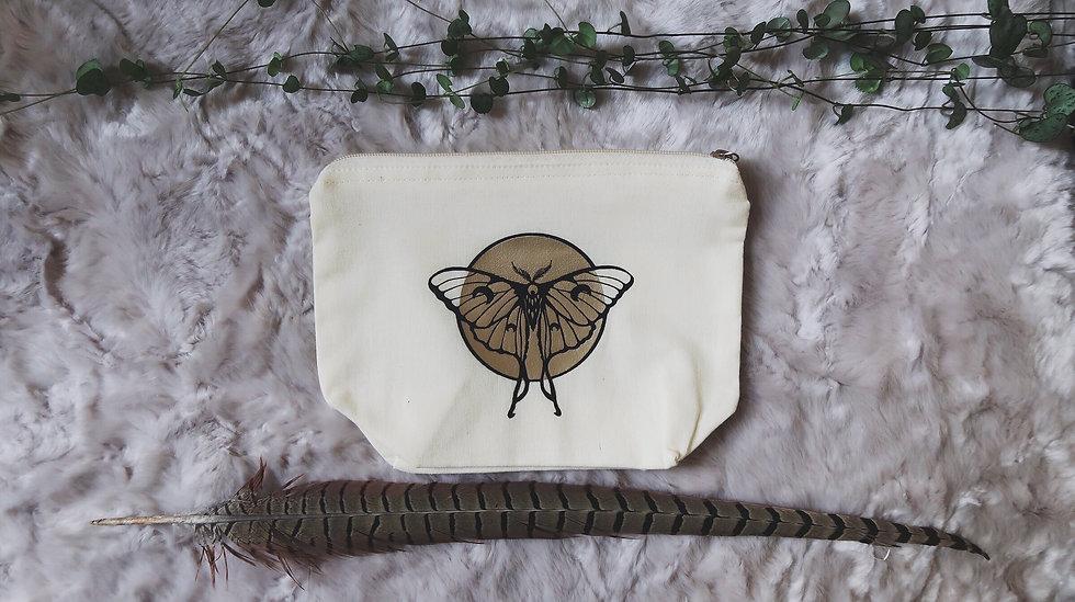 Luna Moth Zip Pouch | medium