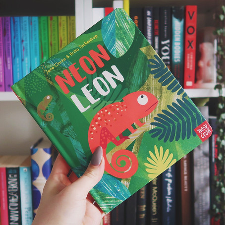 Neon Leon Chameleons | Arty Party Book Club