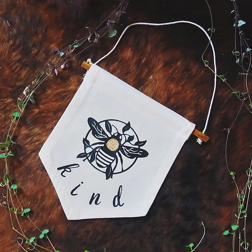 Bee Kind Pennant | Wall Hanging