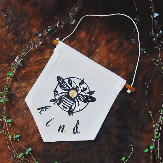 Bee Kind Pennant | Wall Hanging