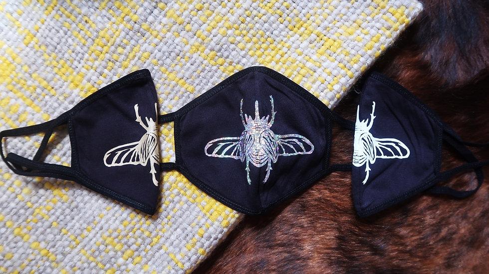 Rhinoceros Beetle Face Mask   washable & reusable
