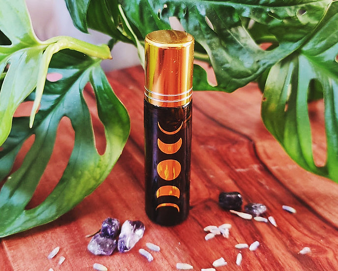 Luna Lavender & Amethyst Aromatherapy Roller Ball   essential oils for anxiety