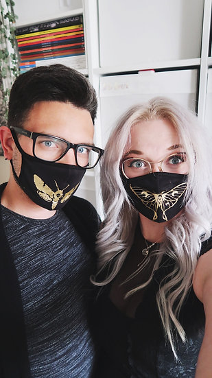 2 Insect Face Masks | washable & reusable