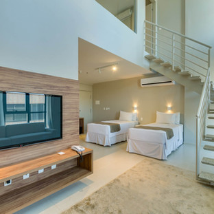 Apartamentos amplos e confortáveis
