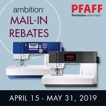 Three Pfaff Ambition Sewing Machines—Three Mail-In Rebates