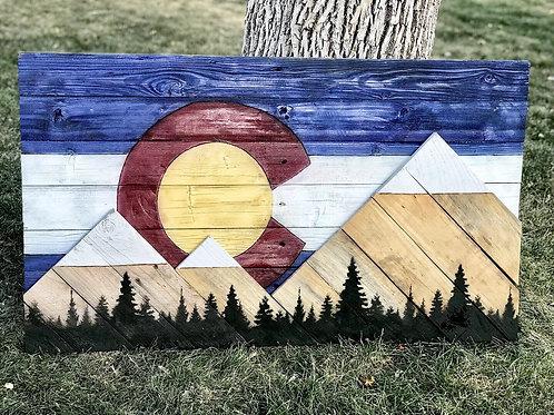 Colorado Tree Line Flag